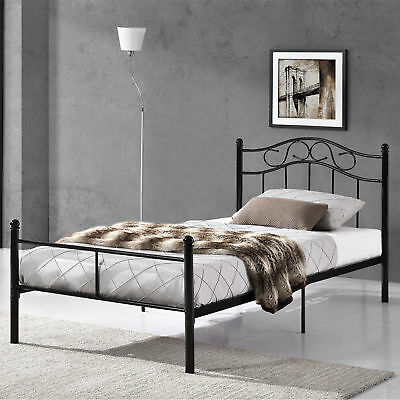 metallbett 90 120 140 180 200x200 bett bettgestell doppelbett ehebett eur 64 90. Black Bedroom Furniture Sets. Home Design Ideas