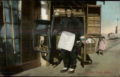 China Native Life Food Seller Publ in Shanghai c1910 Postcard chn