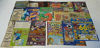 SCOOBY-DOO Ad Collection ~ Lot of 16 Ads
