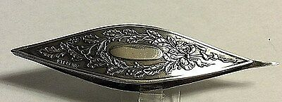 Antique Webster Tatting Shuttle Sterling Silver Christmas Holy Sewing 366