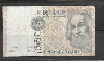 ITALY #109b 1982 VG CIRCULATED 1000 LIRE OLD BANKNOTE PAPER MONEY BILL NOTE