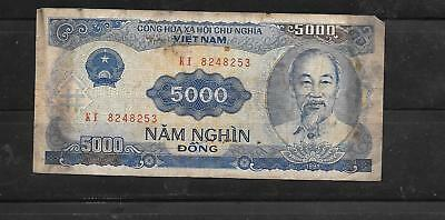 VIETNAM 108a 1993 5000 DONG Good CIRCULATED BANKNOTE PAPER MONEY CURRENCY NOTE