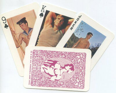 Spielkarten playing cards Gay adult Nude Erotic Sexy erotik USA ca. 1970 E8.108b