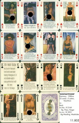 Spielkarten playing cards Pin-Up adult Nude Erotic Sexy erotik Germany E11-805