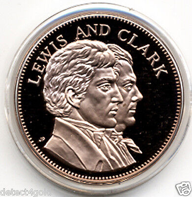 """Lewis & and Clark Expedition Beautiful Proof Bronze Coin Medal 1.5"""""""
