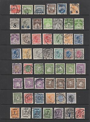 Denmark 1921 - 1930 fine used collection, 80 stamps.