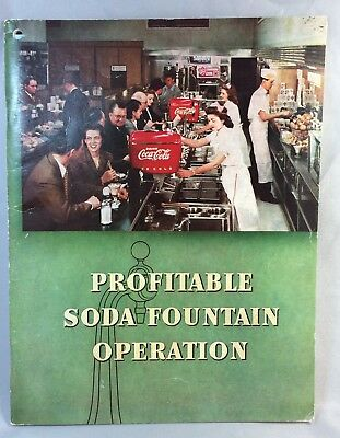 1948 Vintage Original COCA COLA Soda Fountain Operation Book SPRITE BOY