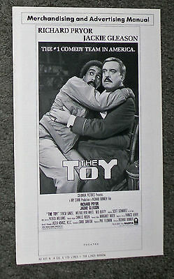 THE TOY original movie 1982 pressbook JACKIE GLEASON/RICHARD PRYOR/TERESA GANZEL