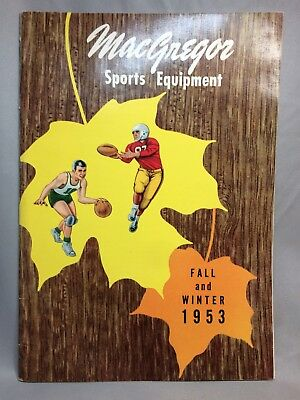 1953 Vintage Original MacGregor SPORTS Equipment Catalog FOOTBALL Illustrations