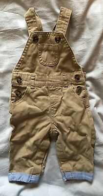 Boys 3-6 Months Beige Dungarees