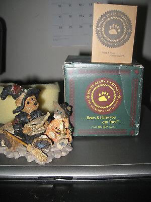 "1995 BOYDS BEARS HALLOWEEN FIGURINE ""Emma... the Witchy Bear"" NEW IN BOX"