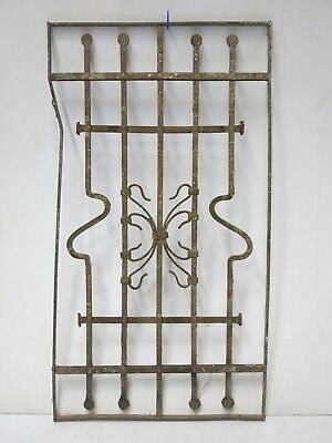 Antique Egyptian Architectural Wrought Iron Panel Grate (045)