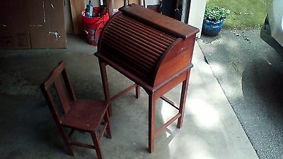childrens vintage roll top desk use as is or restore it