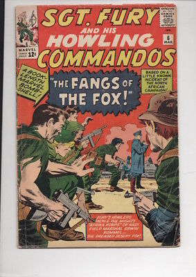 SGT. FURY and his HOWLING COMMANDOS #6 comic/from 1963/50% OFF Guide!