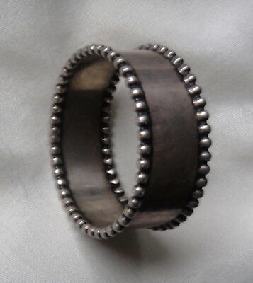Sterling Silver Napkin Ring by National Silver Co. weighs just over 13 grams