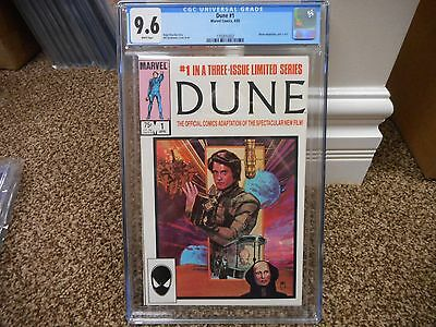 Dune 1 cgc 9.6 Marvel 1985 movie WHITE pages part 1 of 3 MINT Space adventure