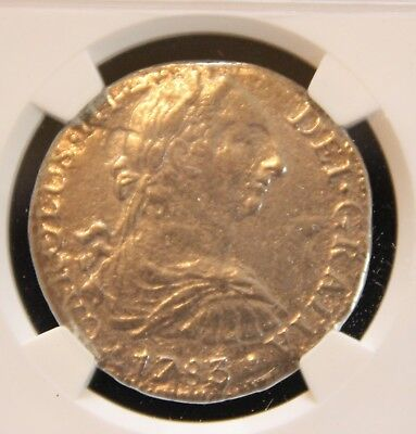 1783 NGC Certified El Cazador Shipwreck Silver Piece of Eight Reales 1784