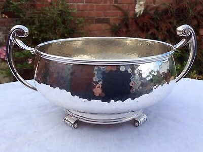 Fabulous Art & Crafts Hand Hammered Silver Plated Bowl William Suckling C.1925