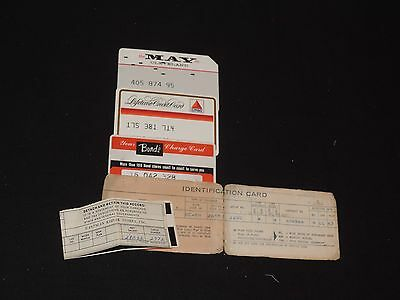 Old Credit Cards Charge Card Citgo Gas May Company Bonds Store & Blue Cross