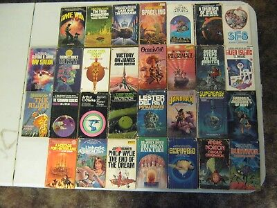 Science Fiction Paperback Books Lot Of 30 Vintage Sci Fi Lot #5