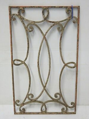 Antique Egyptian Architectural Wrought Iron Panel Grate (074)
