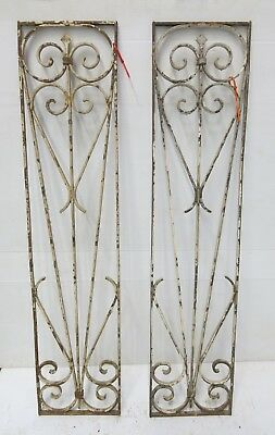 Antique Egyptian Architectural Wrought Iron Panel Grate (078_079)