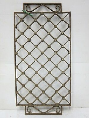 Antique Egyptian Architectural Wrought Iron Panel Grate (081)
