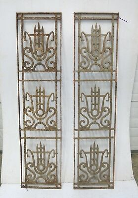 Antique Egyptian Architectural Wrought Iron Panel Grate (086_088)