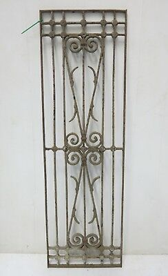 Antique Egyptian Architectural Wrought Iron Panel Grate (087)
