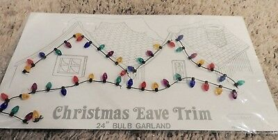 "NEW Dept 56 Snow Village ~ Christmas Eave Trim 24"" Bulb Garland ~  55115"