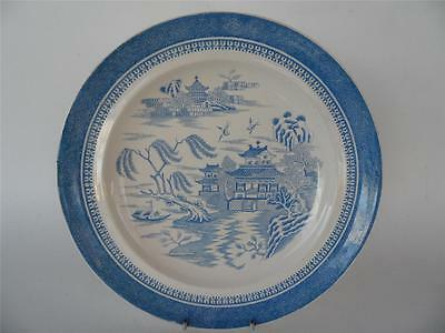 Antique Victorian 1882 Copeland Sky Blue Blue Willow Plate