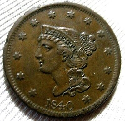 1840 Large Cent Near Uncirculated Detail
