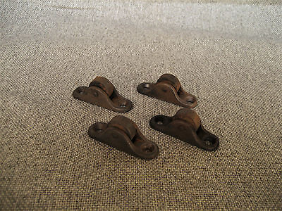 Vintage Steel Cast Iron Cart Furniture Wheels Casters Parts Steampunk Lot Of 4