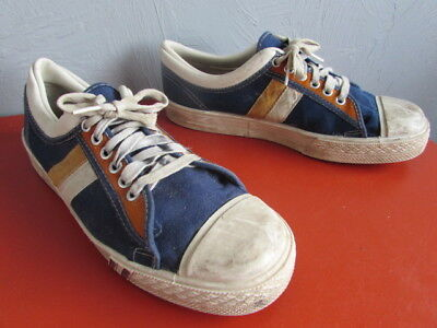 Very Vintage, Original Canvas Basketball Shoes, Made In USA, sz 9 1/2