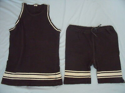 Vintage Wool 2 Piece Reis Mans Bathing Suit 1920's  With Tag
