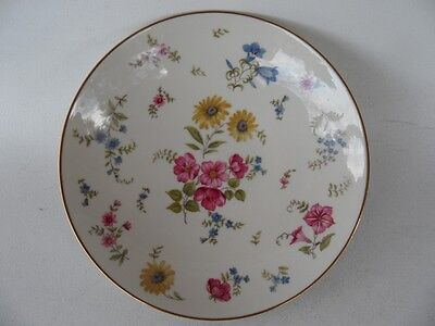 Vintage Rosenthal Germany Florida Pink And Blue Floral Dish With Gold Trim
