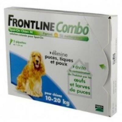 Merial Frontline Combo Chien Taille M 10-20 Kg 4 Pipett