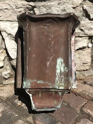Vtg Copper Head Leader Conductor Architectural Salvage Gutter Downspout Hopper