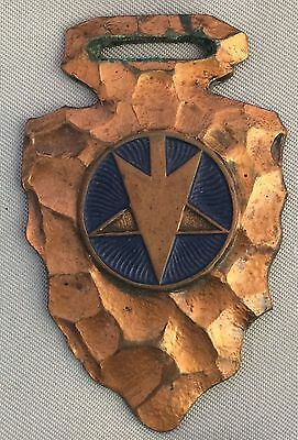 Antique Des Moines SADDLERY Star Point HARNESS Horse Arrowhead WATCH FOB