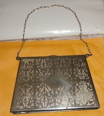 Rare*  Large Antique Ritz Carlton German Sterling Silver Purse w/ Chain
