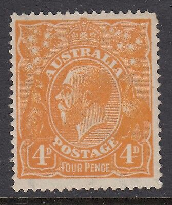 1915 4d ORANGE KGV, Mint Lightly Hinged