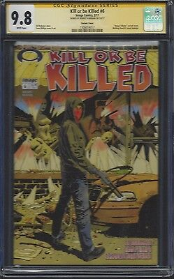 Kill or be Killed #6 Walking Dead #1 homage_CGC 9.8 SS_Signed by Robert Kirkman