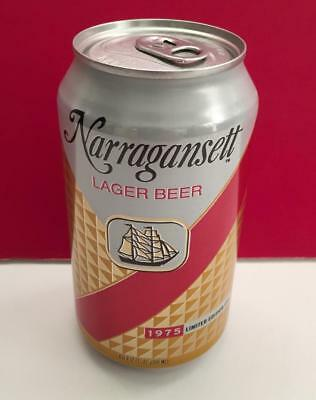 Narragansett Craft Lager Beer 1975 Retro Jaws Movie EMPTY Collectible 12 oz. Can