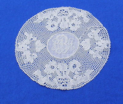 Antique Point de Paris Bobbin Lace Doily