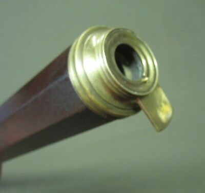 18th Century Telescope With Octagon Tube o Solid Mahogany