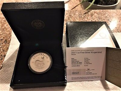 2017 S Africa PROOF Silver Krugerrand - 50th Anniversary - 15k exist - #9407
