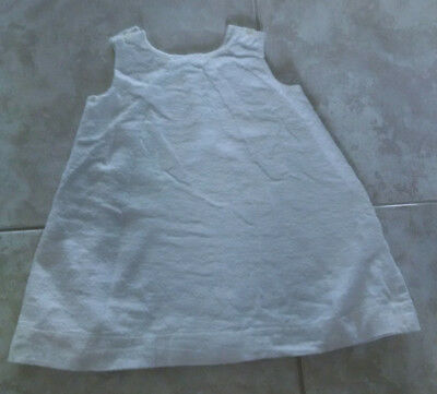 Vintage Handmade Baby Clothes White Flannel Nightgowns / Sleepwear Set of 2