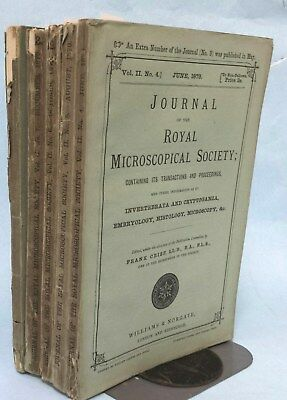 5 Issues (May-Dec) 1879 Journal of Royal Microscopical Society (Microscopes)