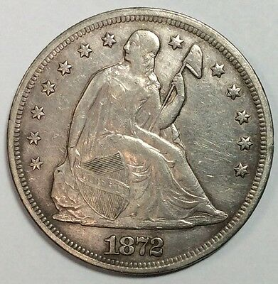 1872 Seated Liberty Dollar - Nice XF TYPE Coin - Strong Details