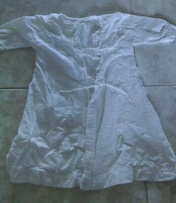 Vintage Handmade Baby Clothes White Flannel Nightgowns / Sleepwear Set of 3